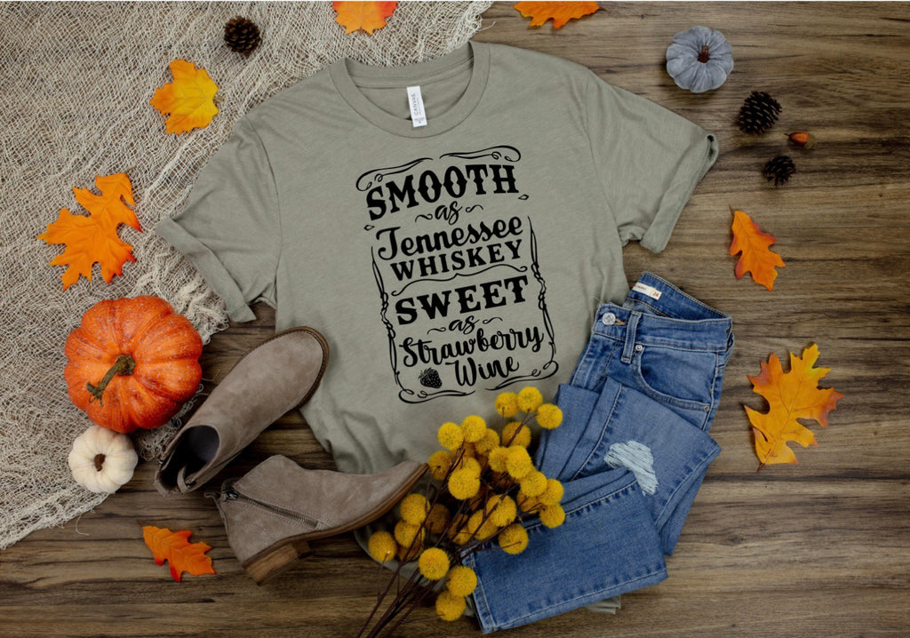 Smooth as Tennessee Whiskey Printed Tee
