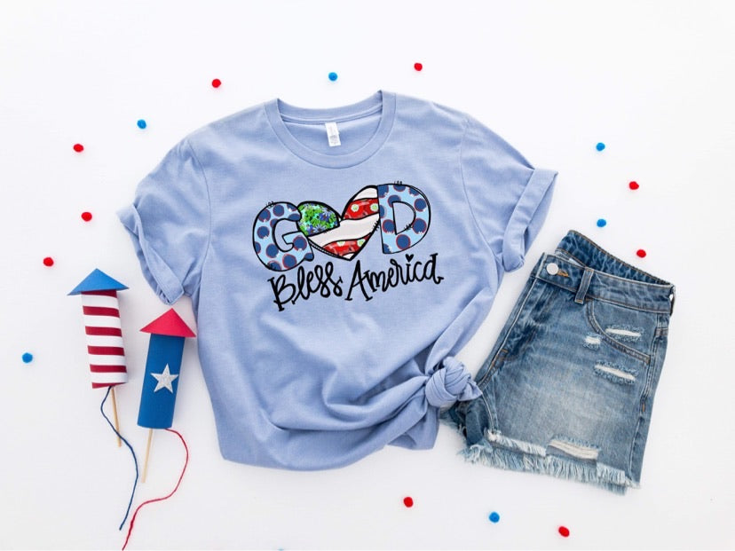 God Bless America Printed Tee