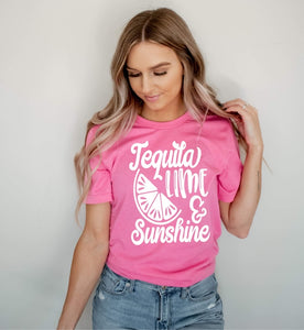 Tequila Lime & Sunshine Printed Tee