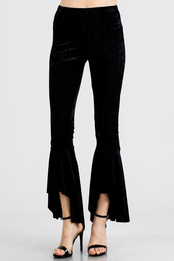 Stretchy Velvet Bell Bottoms