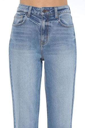 High Rise Straight Crop Jeans
