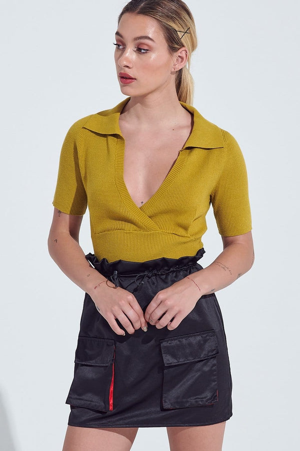 Key Lime Collar Top