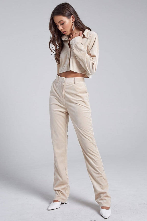 Velvet Top and Pants Set