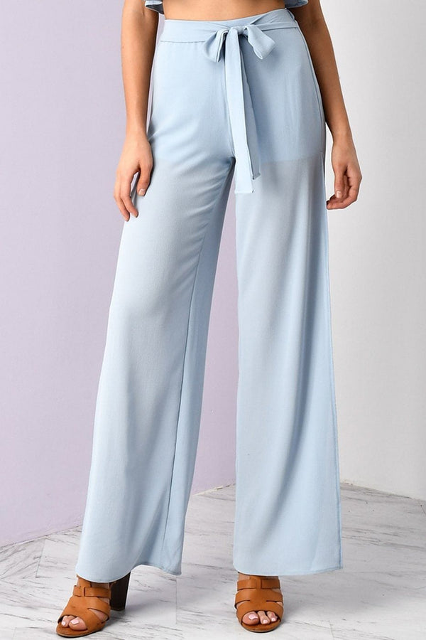 Sample Sale - Baby Blue Side Slit Pants