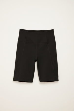 Black High-Rise Bike Short