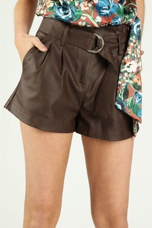 Sample Sale - Snake Belted Shorts