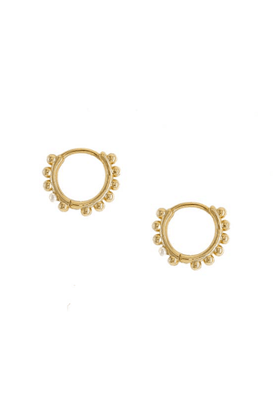 Dani Pearl Accent Huggie Earrings