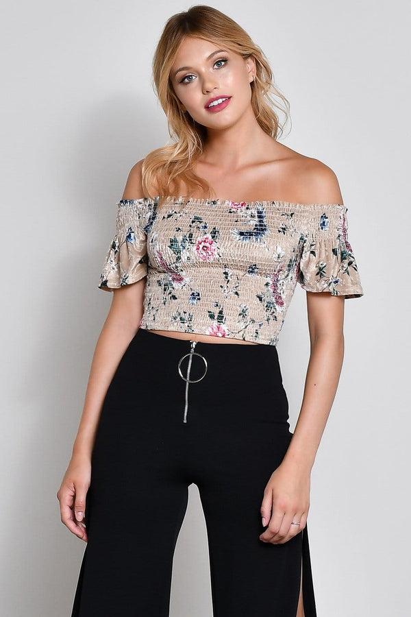 Floral Smocked Crop Top