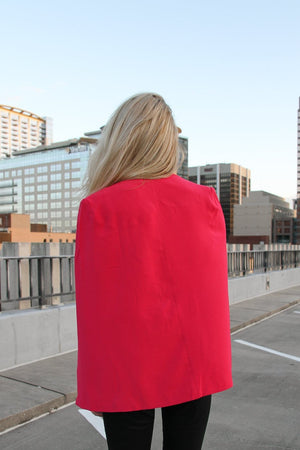 Magenta Tailored Cape