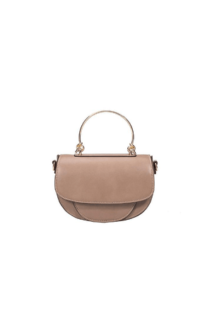 Isabel Taupe Top Handle Bag