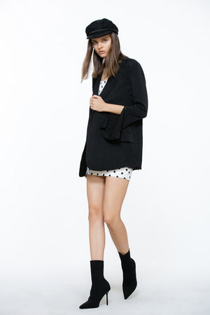 Sample Sale - Lace Up Sleeves Blazer