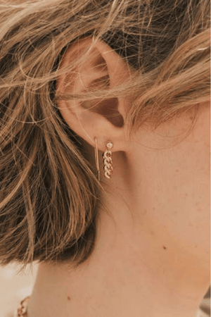 Kat Chain Hoop Earrings