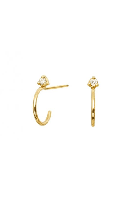 Kristen Hoop Stud Earrings
