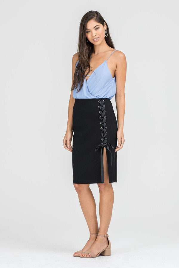 Sample Sale - Lace Up Pencil Skirt