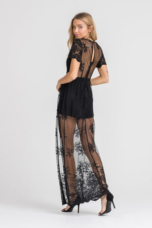 Bohemian Festival Lace Overlay Romper