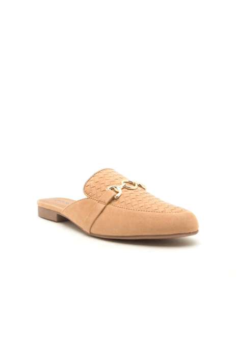 Woven Loafer Mules