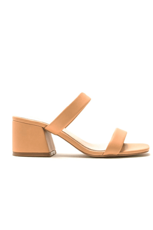 Banded Block Heel Sandals