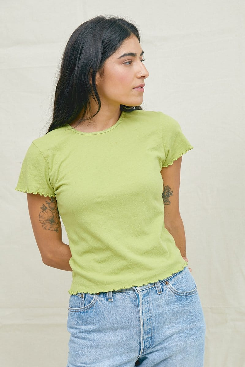 Lime Recycled Cotton Baby Tee