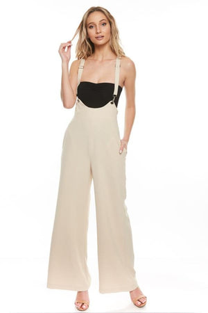 High-Rise Suspender Jumpsuit