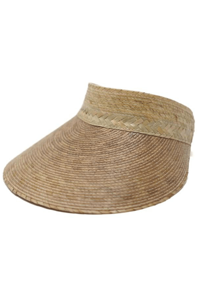 Palm Straw Visor