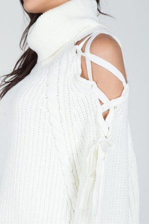 Tied Up Shoulder Sweater