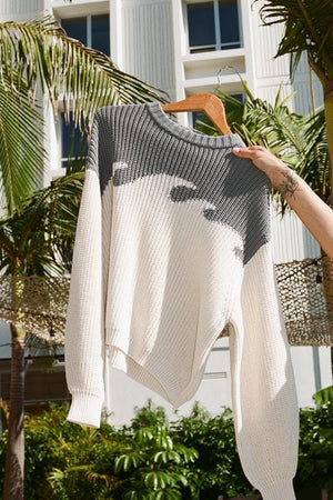 Organic Cotton Wave Sweater