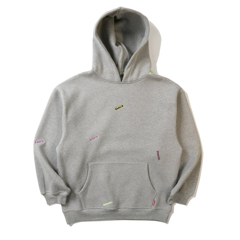 ALL OVER EMBROIDERED HOODIE