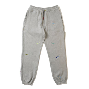 ALL OVER EMBROIDERED SWEATPANTS