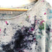 Hand-dyed Raw Silk Top - multi dye, 3/4 sleeve