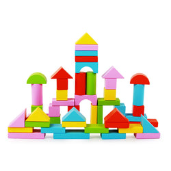 Logwood 50pcs color Wooden building blocks