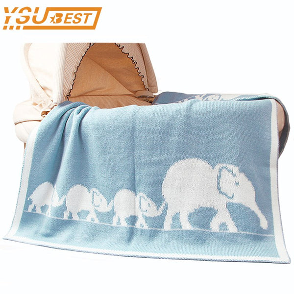 Knitted Baby Elephant Blanket - House Of Isaac