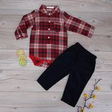 Gentleman plaid romper - House Of Isaac