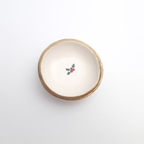 Christmas Mistletoe Jewelry Dish