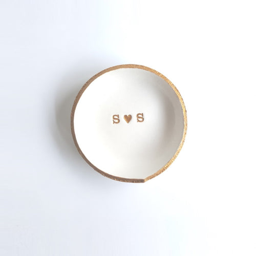 Monogram Personalized Jewelry Dish