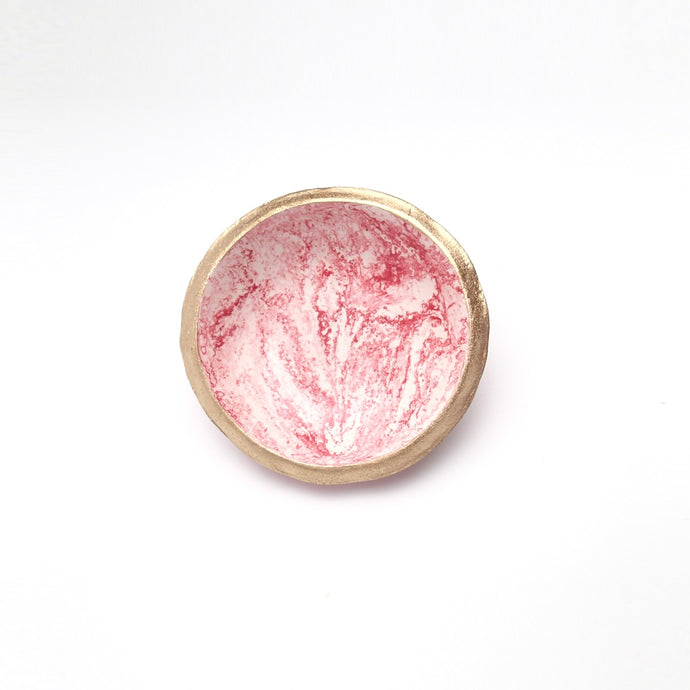 Marble Red Jewelry Dish