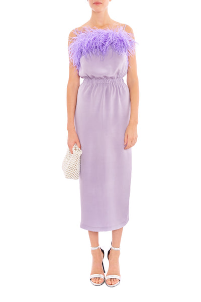 Lilac Feather Dress