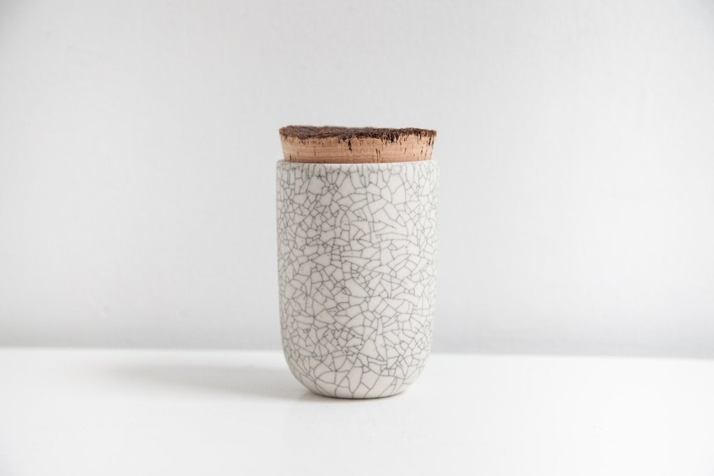 Earthen- Tea Jar, crackle