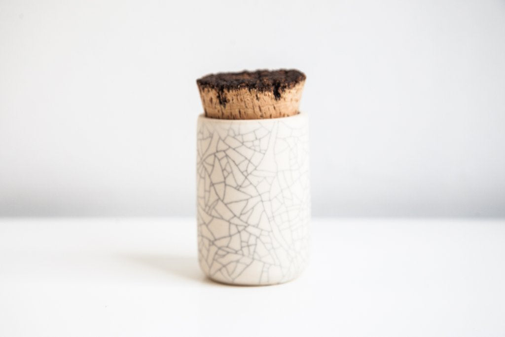 Earthen- Spice Jar, crackle