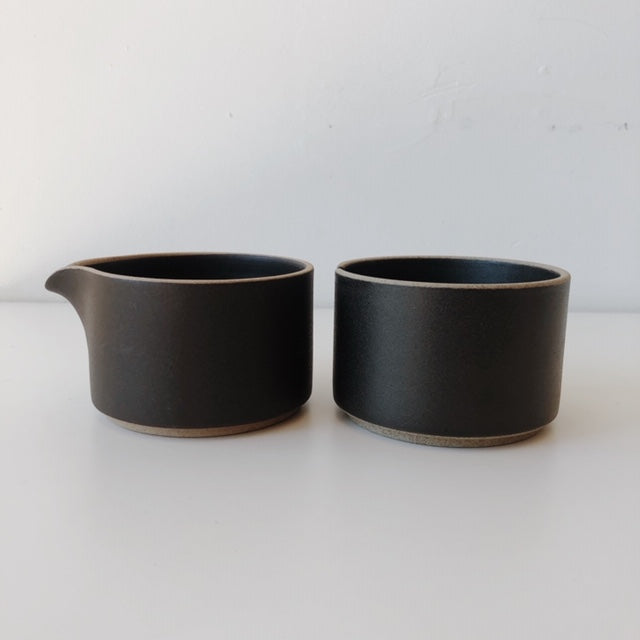 Hasami Porcelain-Sugar and Creamer Set, Black