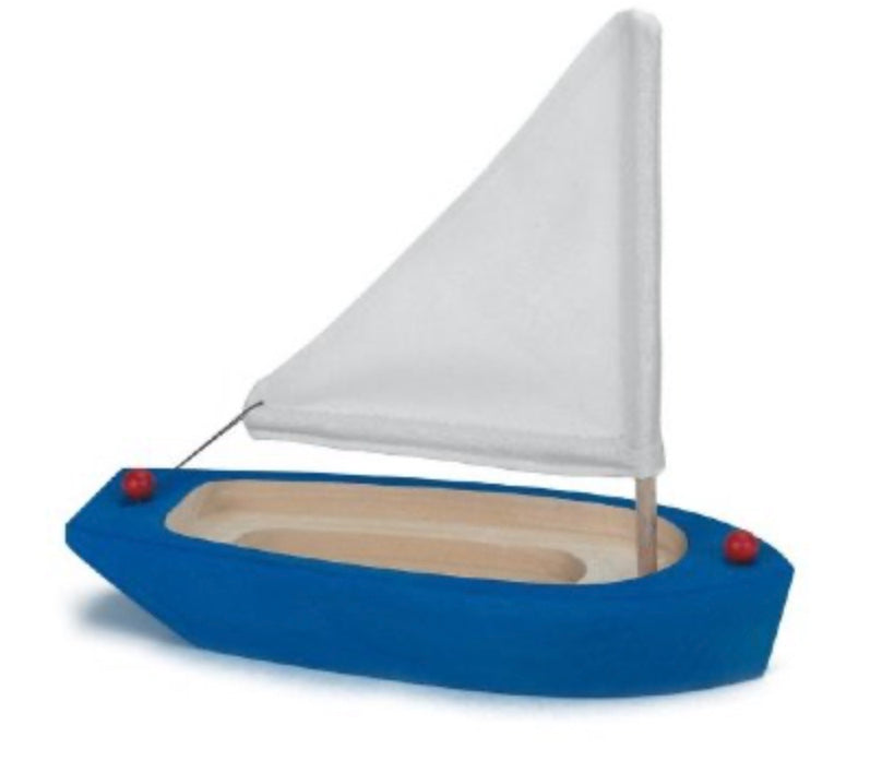 Gluckskafer- Wooden Sailing Boat Toy, Blue
