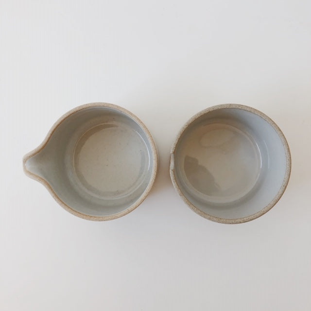 Hasami Porcelain-Sugar and Creamer Set, Gloss Grey