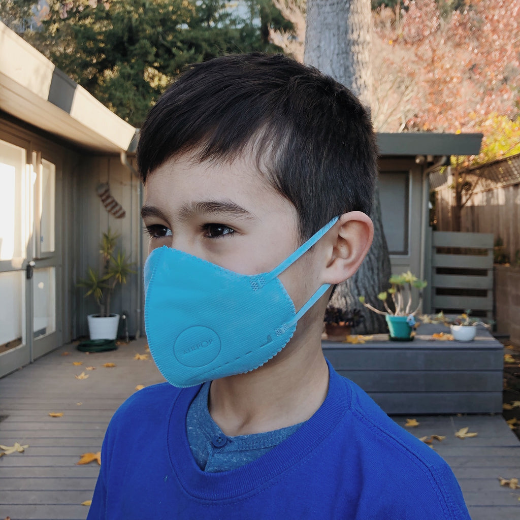 AirPop - Kids Mask, Blue, 4-pack