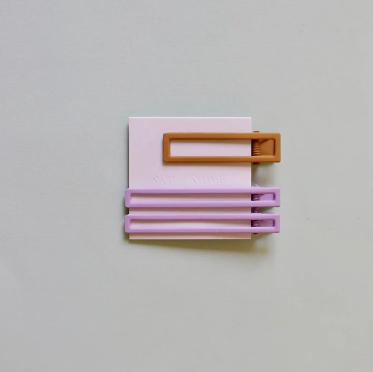 Nat + Noor- Yarrow barrette  in Lilac and Mustard