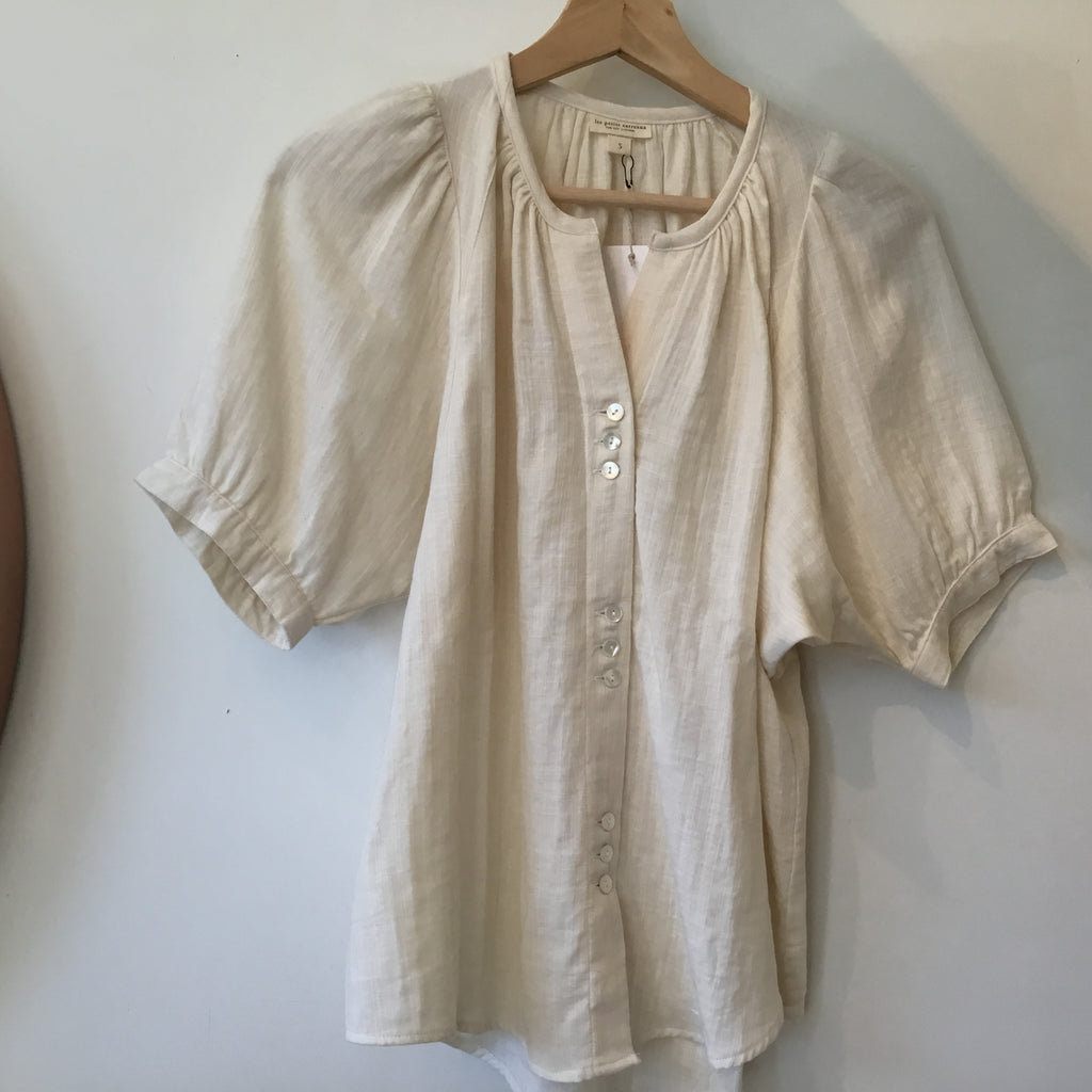 Les Petits Carreaux- Filippine blouse in cream