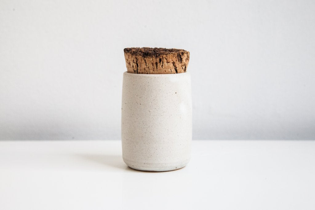 Earthen- Spice Jar, snow