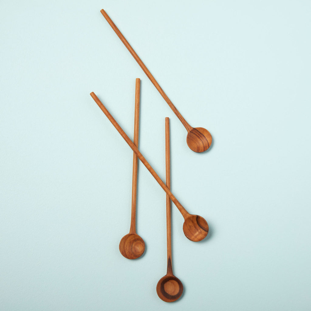 Be Home- Teak Stirrers, set of 4