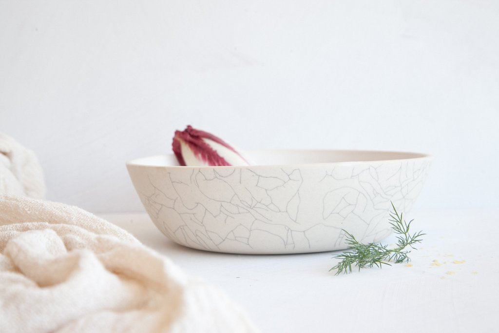 Earthen- Serving Bowl / Crackle