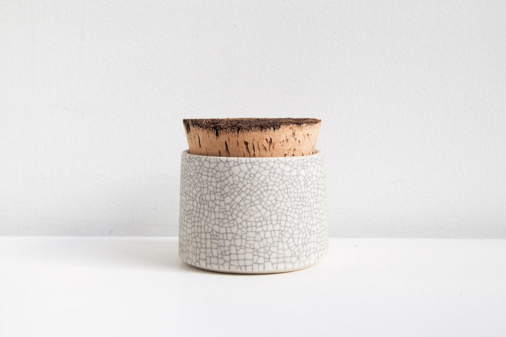 Earthen- Sugar Jar, crackle