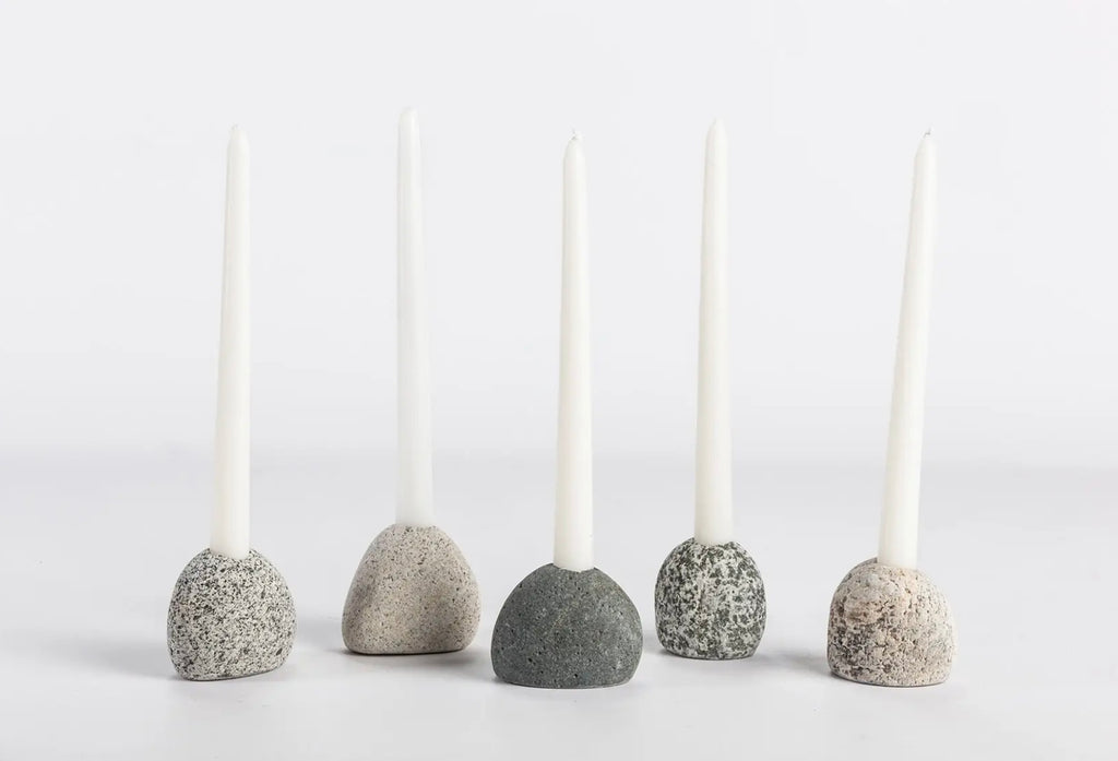Rock Candle Holder