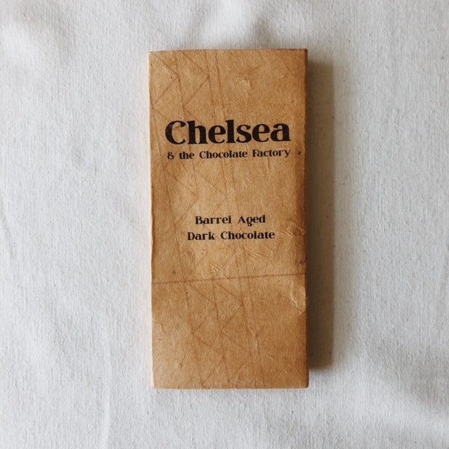 Chelsea & The Chocolate Factory- Barrel Aged Dark Chocolate, 2 oz.